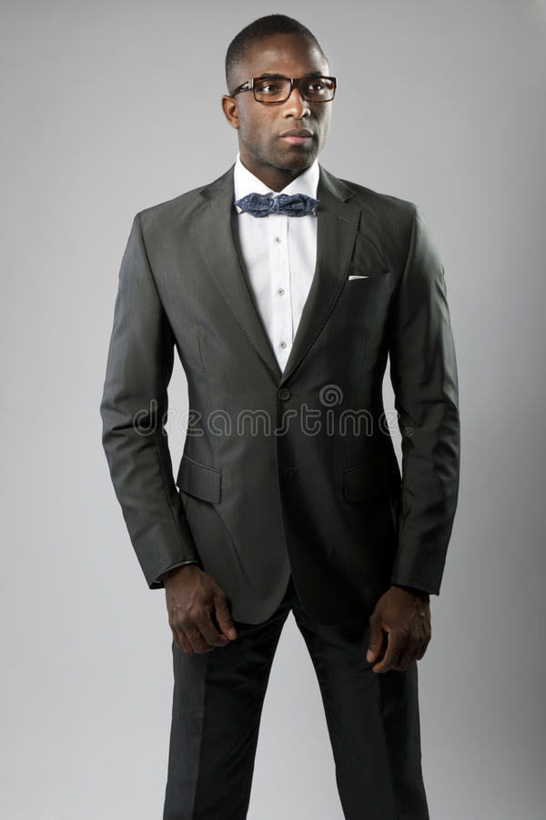 Download Elegant young man stock photo. Image of studio, gray - 25946296
