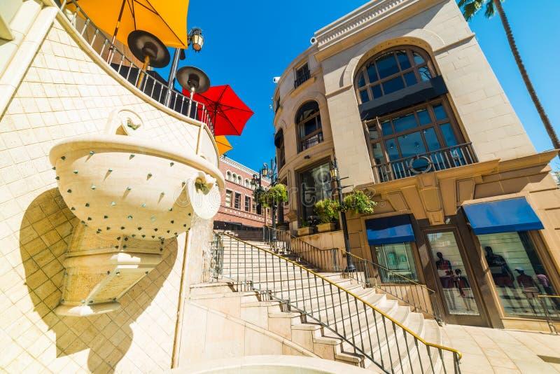 Eleganta byggnader i Beverly Hills arkivbilder