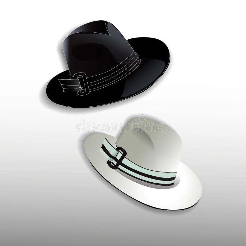 Eleganta mäns hattar arkivfoto
