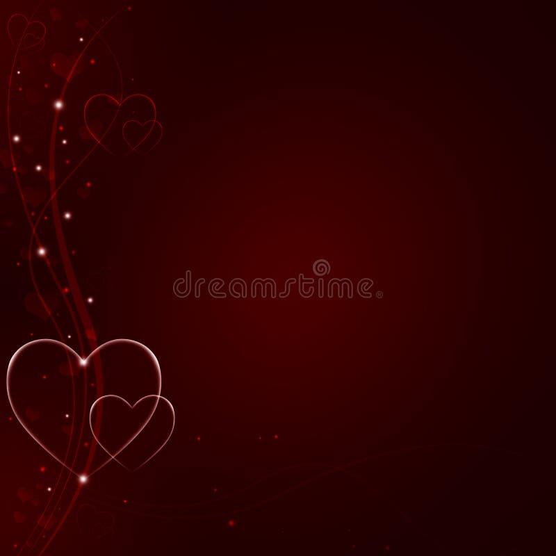 Eleganta röda valentin bakgrund stock illustrationer