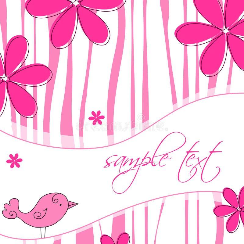 Elegante abstracte bloemenachtergrond stock illustratie