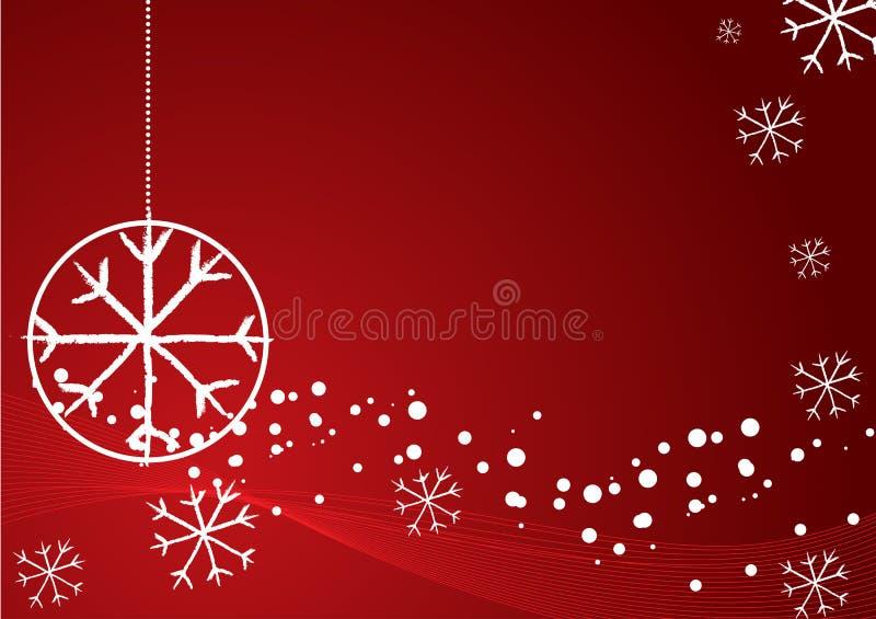 Elegante abstracte rode Kerstmisachtergrond stock illustratie
