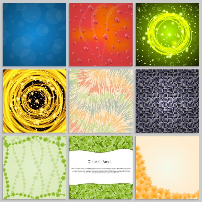 Elegante abstrakte Hintergründe der Sammlung vektor abbildung