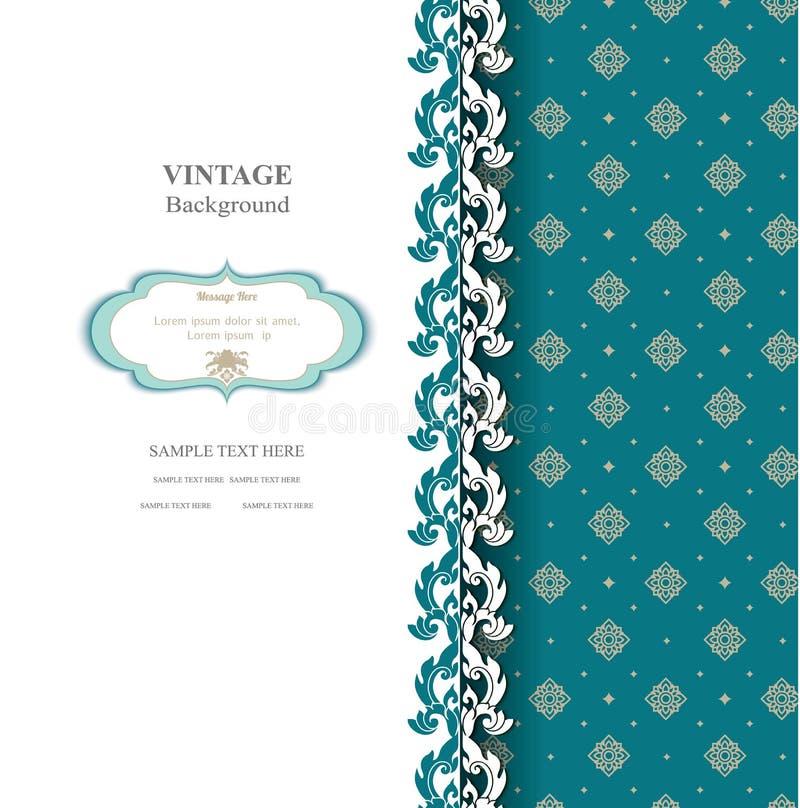 Elegante achtergrond met kantornament en plaats voor tekst Bloemen elementen, overladen achtergrond stock illustratie