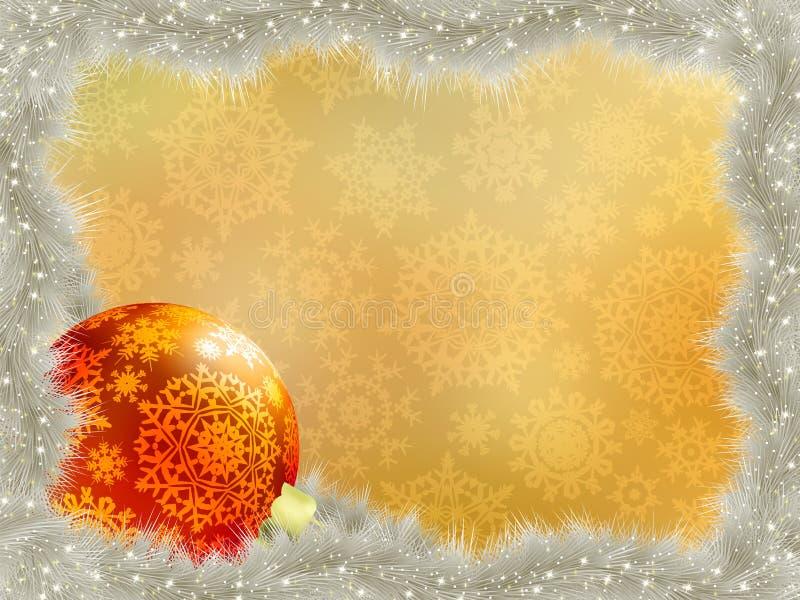 Elegante achtergrond met sneeuwvlokken. EPS 8 royalty-vrije illustratie