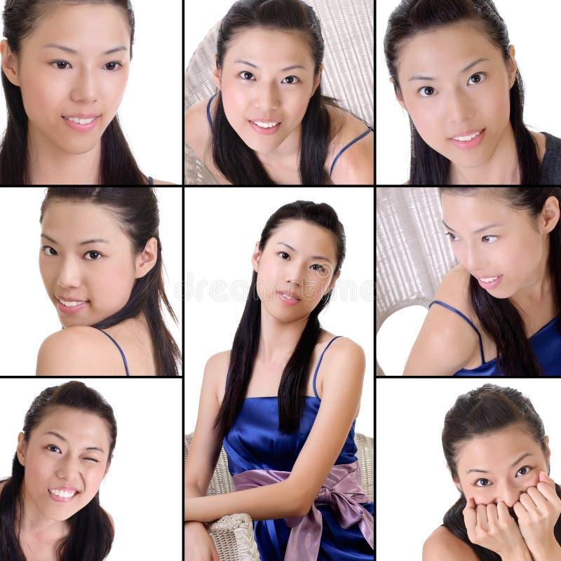 Elegante Aziatische dame royalty-vrije stock fotografie