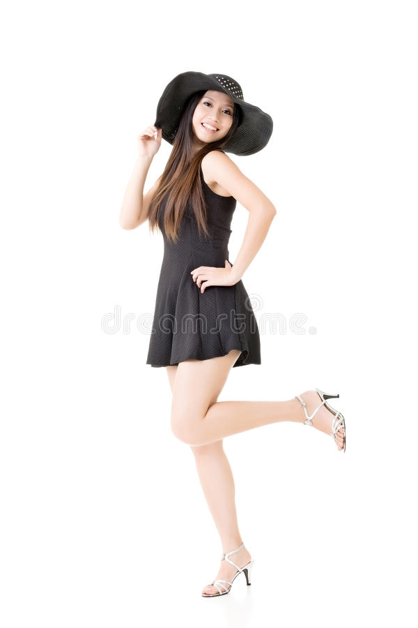Elegante Aziatische dame stock fotografie