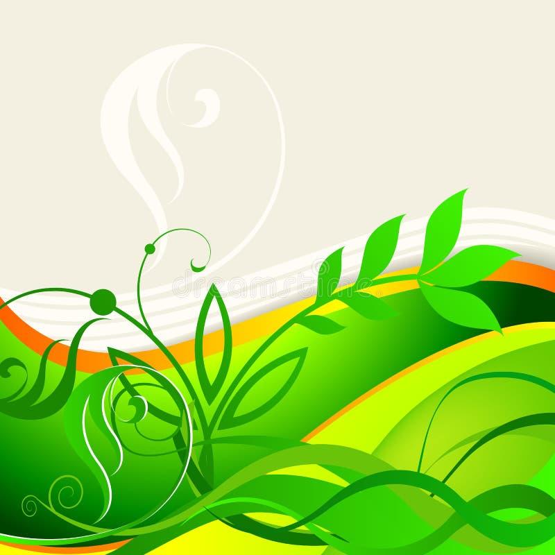 Elegante bloemen de zomer bedrijfsachtergrond stock illustratie