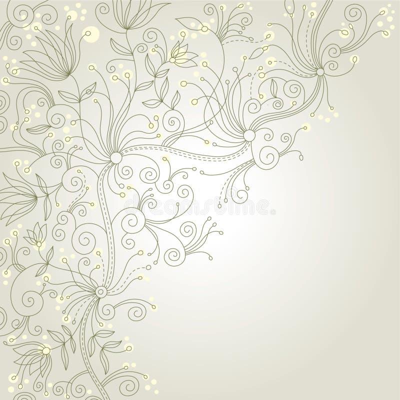 Elegante bloemenachtergrond royalty-vrije illustratie