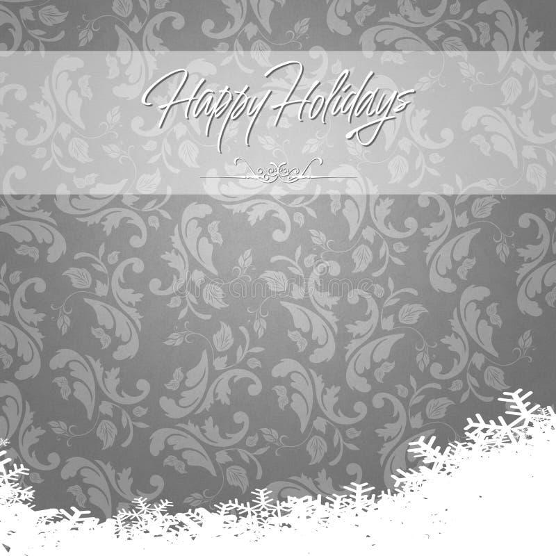 Elegante boas festas durante o cartão do inverno ilustração stock