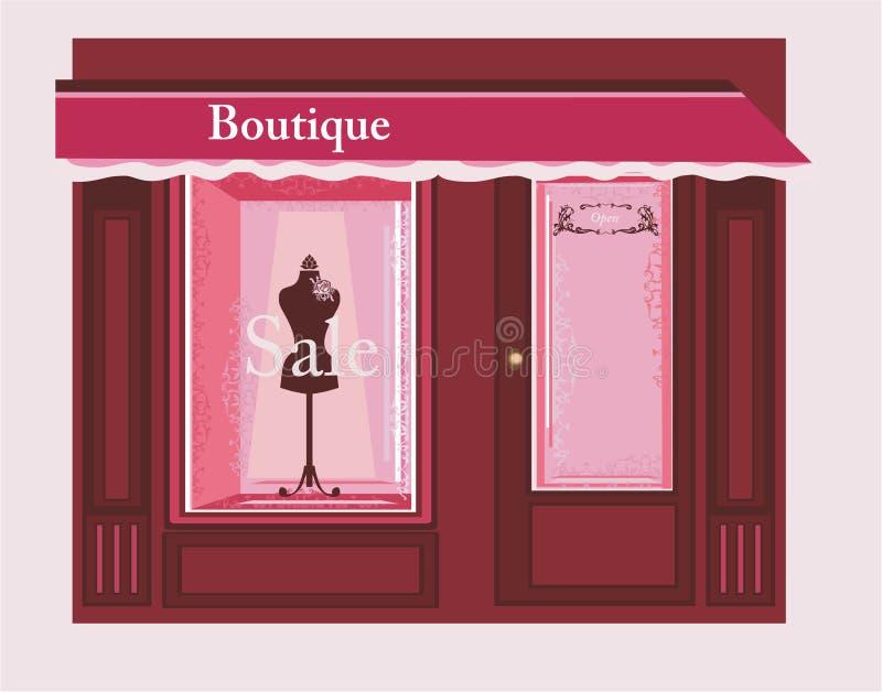 Elegante Boutique stock illustratie