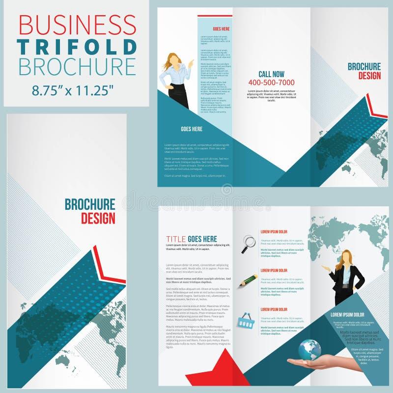 Elegante Broschüre lizenzfreie abbildung