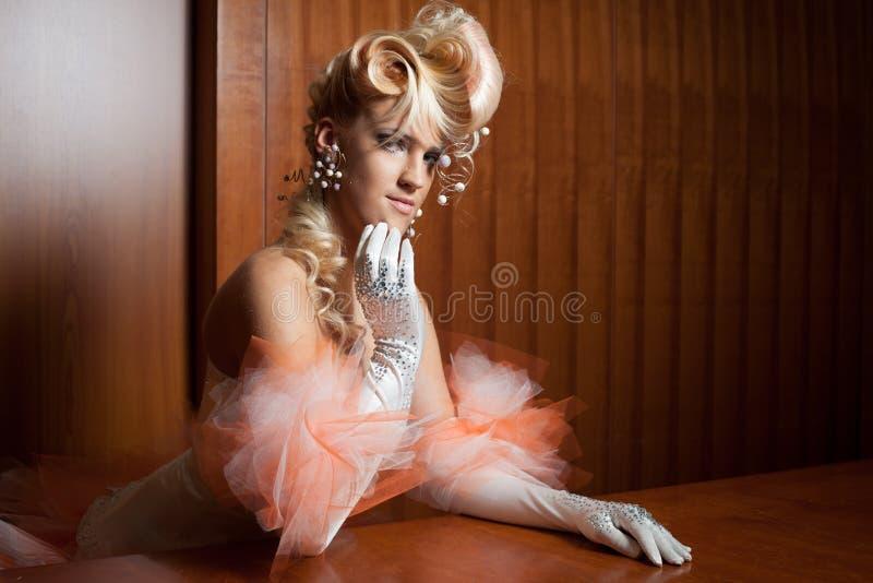 Elegante bruid stock foto