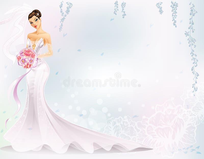 Elegante Bruid stock illustratie