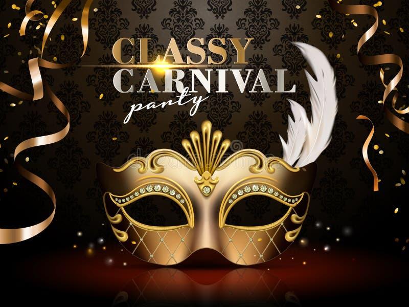 Elegante Carnaval-partijaffiche stock illustratie