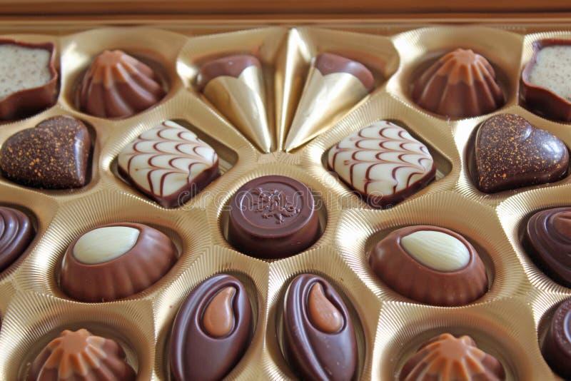 Elegante Chocolade royalty-vrije stock foto's