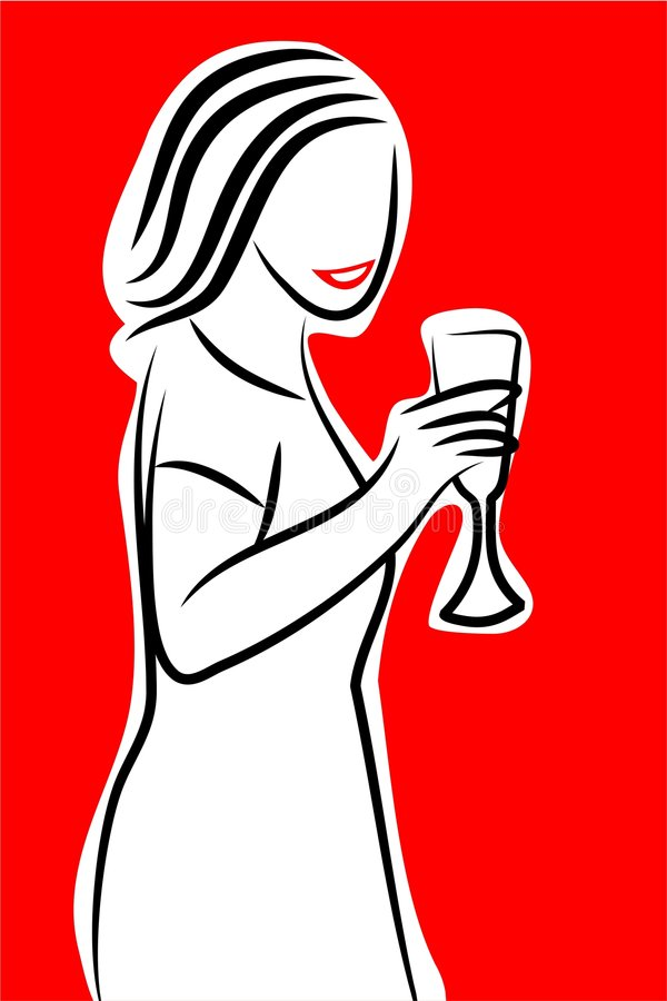 Elegante dame vector illustratie