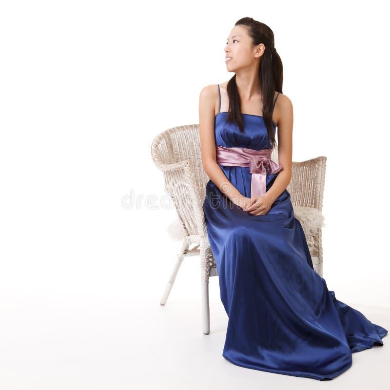 Elegante dame van Aziaat stock foto's