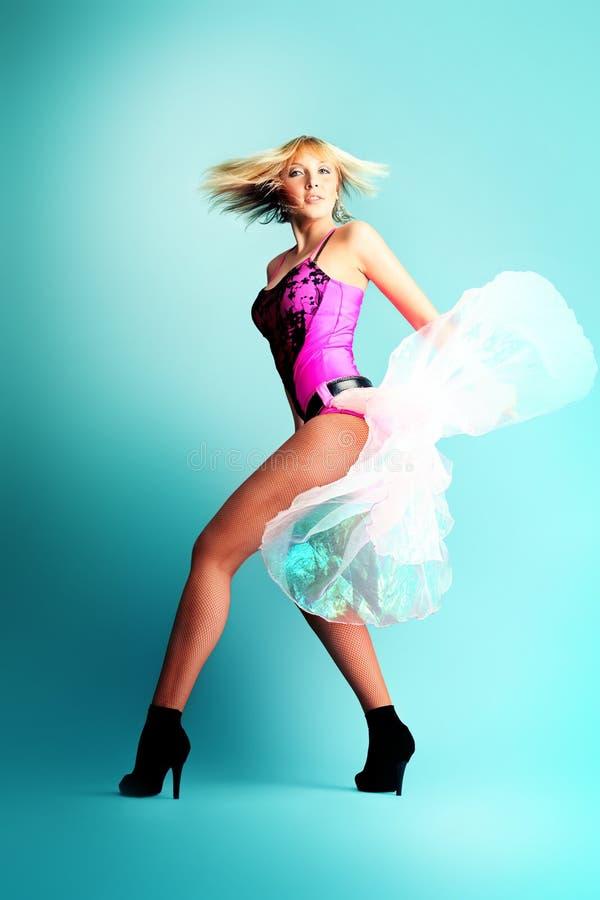Elegante danser stock foto's