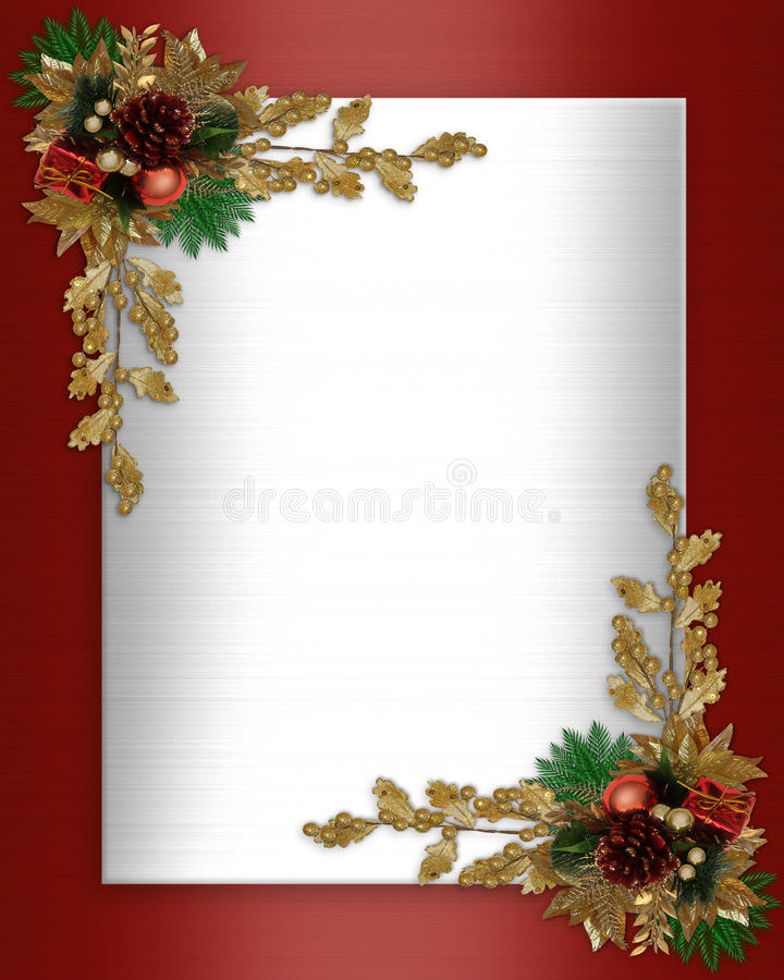 Elegante de grens van Kerstmis stock illustratie