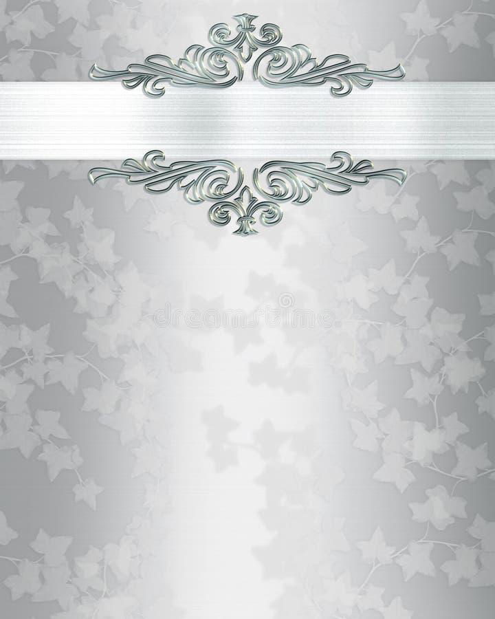 Elegante de uitnodigingsachtergrond van het huwelijk vector illustratie