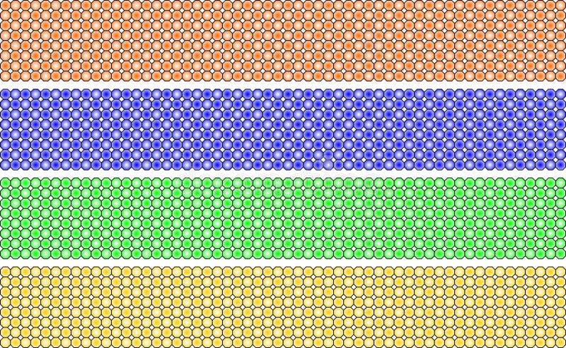 Elegante decoratieve grens die uit de sinaasappel van de veelhoekengraad, blauw wordt samengesteld, groen en geel stock illustratie