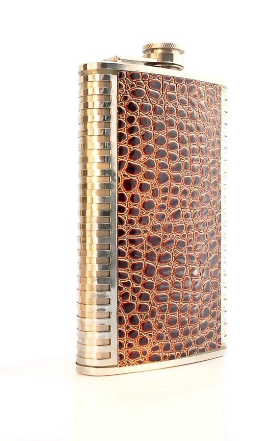 Elegante Flasche verziert als Krokodilhaut lizenzfreies stockbild
