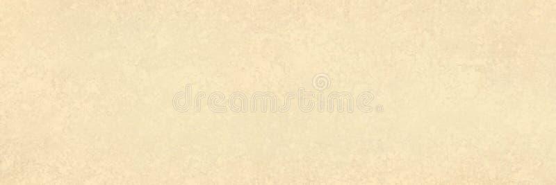 Elegante fondo beige con textura vintage, papel antiguo o banner de pergamino de color blanco amarillento y blanco claro stock de ilustración
