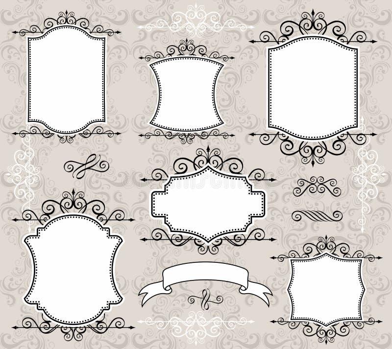Elegante frames   stock illustratie