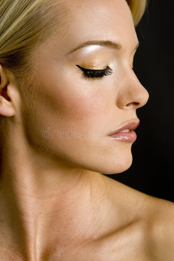 Download Elegante Frau stockbild. Bild von lippen, menschlich, eleganz - 9080683