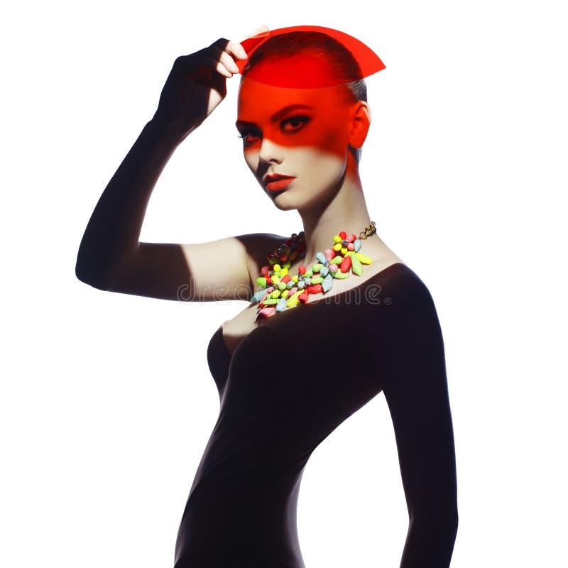 Elegante futuristische Dame stockbild