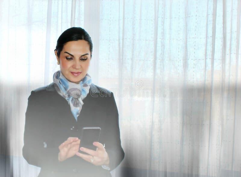 Elegante Geschäftsfrau stockfoto