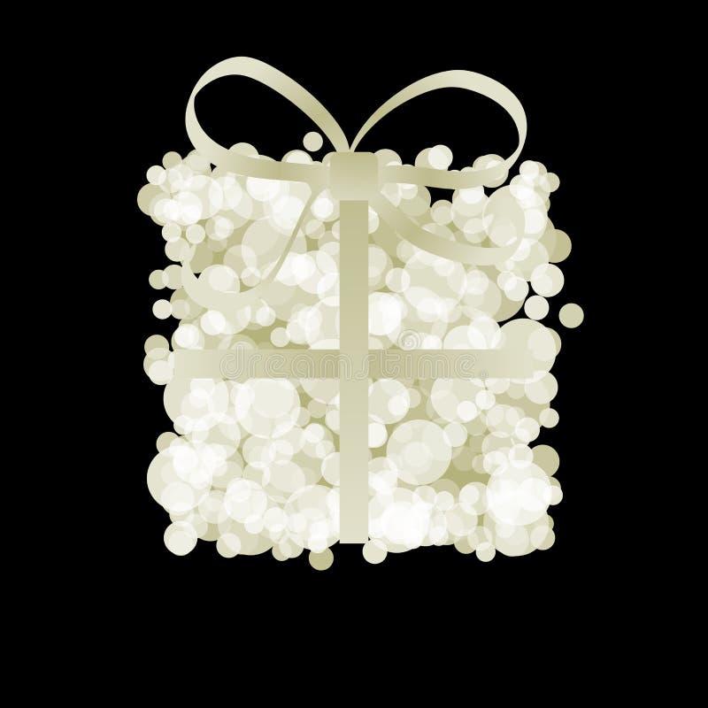 Elegante Geschenkbox mit Band lizenzfreie abbildung