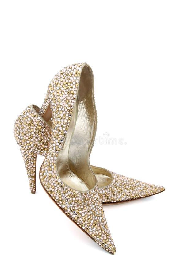 Elegante glänzende Schuhe stockfoto