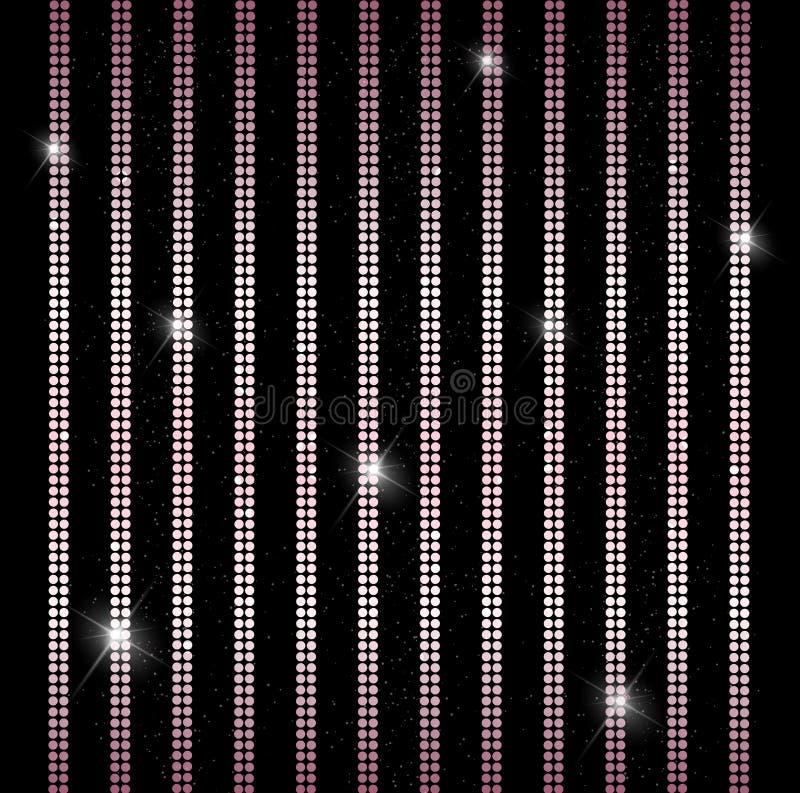 Elegante glanzende verticale lijnen, strepen achtergrondglamourgordijn royalty-vrije illustratie