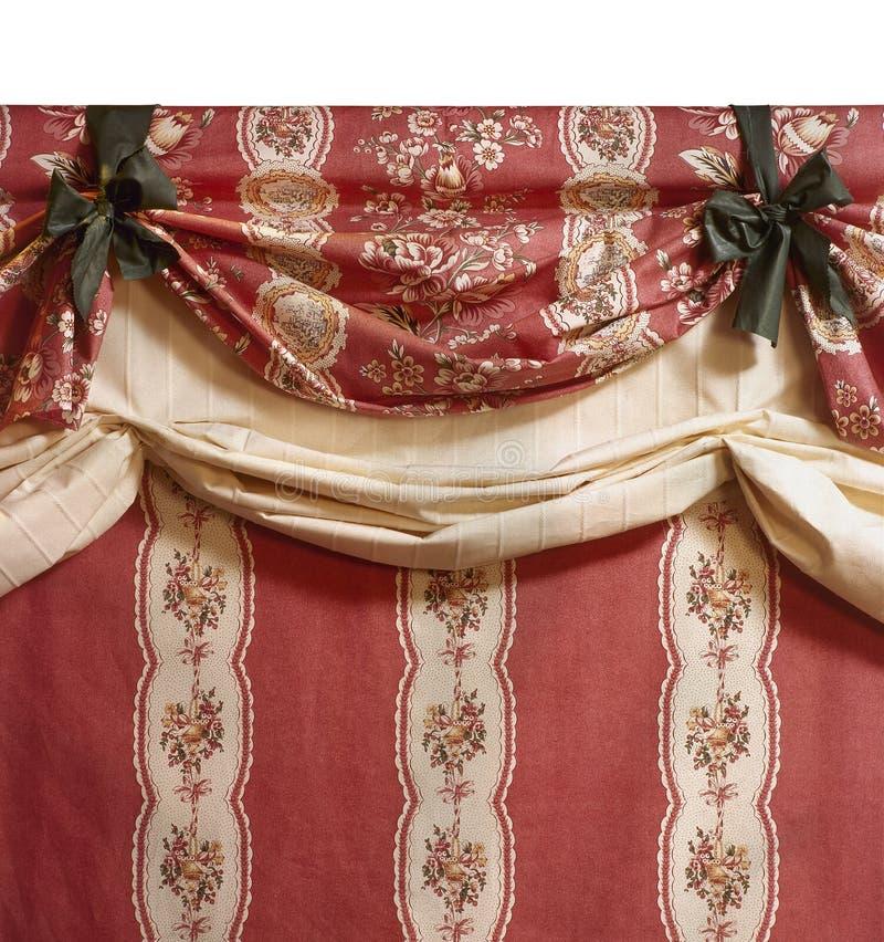 Elegante gordijnstof stock afbeelding