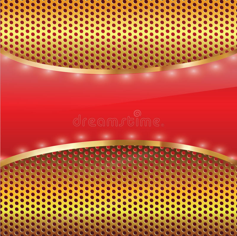 Elegante Gouden achtergrond stock illustratie