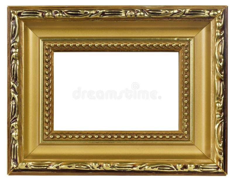 Elegante gouden pictureframemacro royalty-vrije stock afbeeldingen