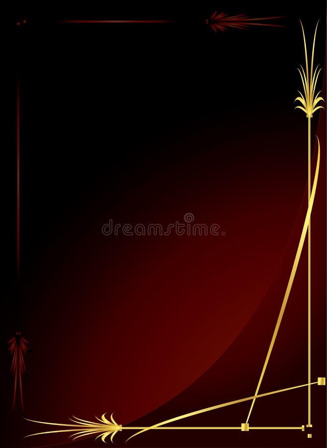 Elegante gouden rode achtergrond 2 royalty-vrije illustratie