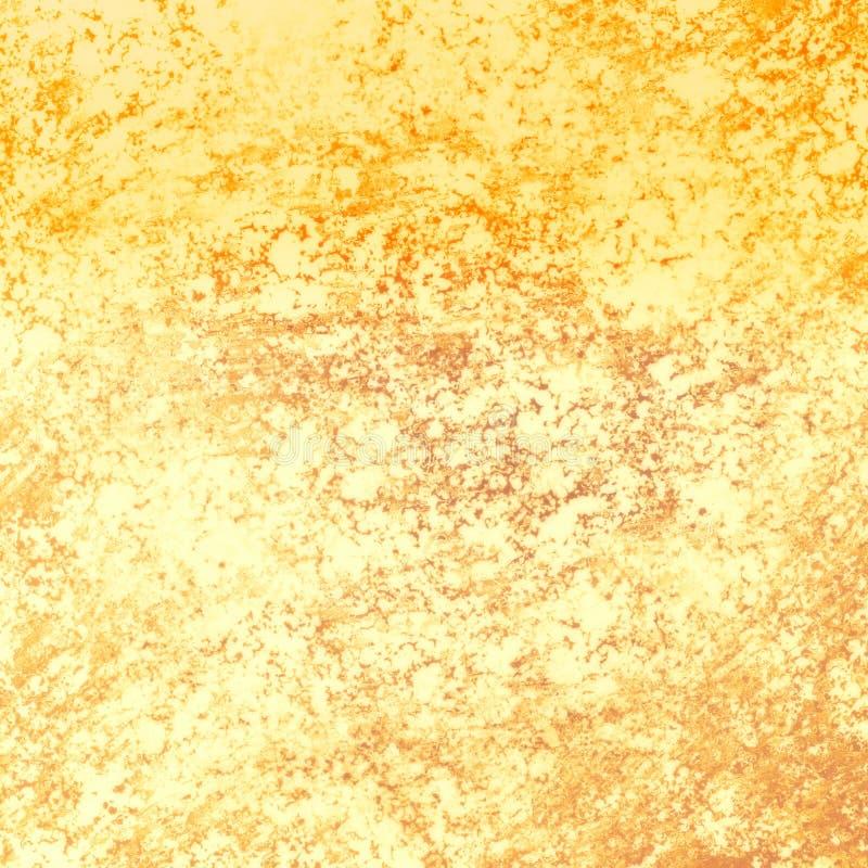 Elegante gouden uitstekende textuur als achtergrond, gouden lay-outontwerp royalty-vrije illustratie