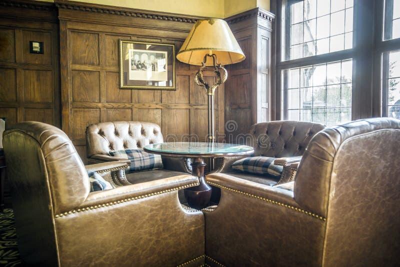 Elegante hal in een luxueus hotel stock foto