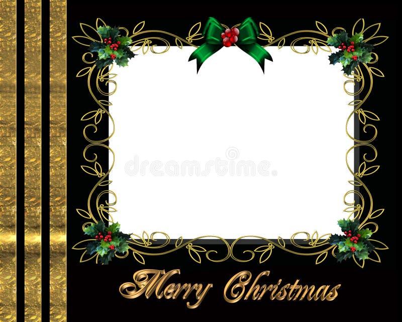 Elegante het frame van de de grensfoto van Kerstmis royalty-vrije illustratie