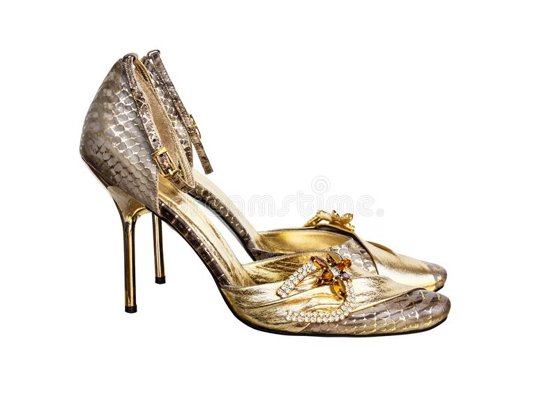 Elegante high-heeled schoenen royalty-vrije stock afbeelding