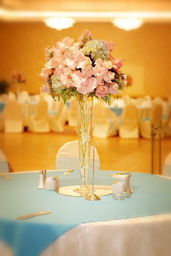 Elegante Hochzeitseinstellung stockbilder