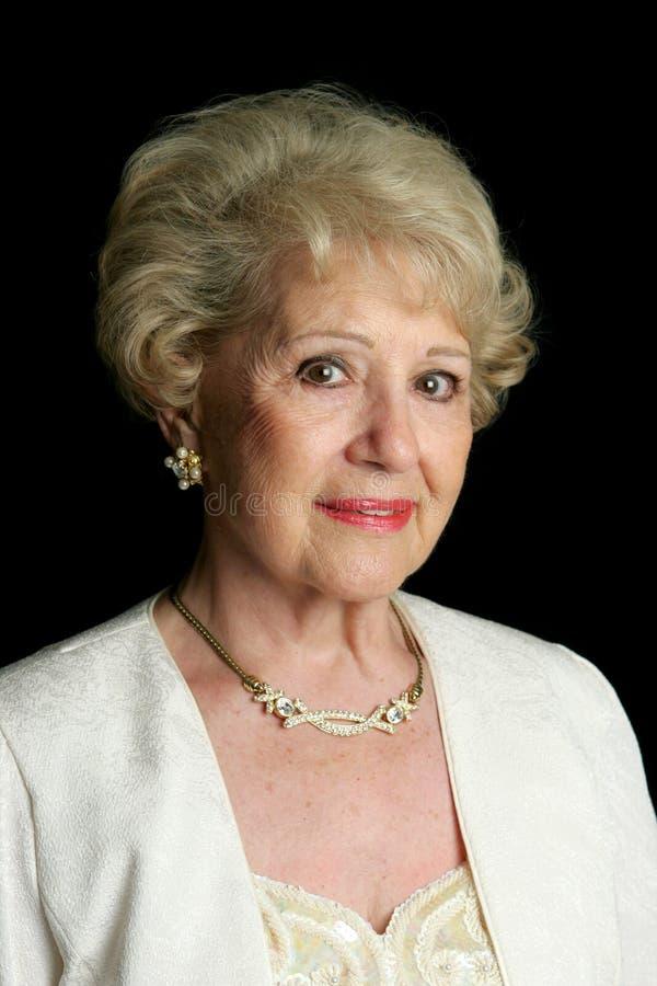 Elegante Hogere Dame royalty-vrije stock foto