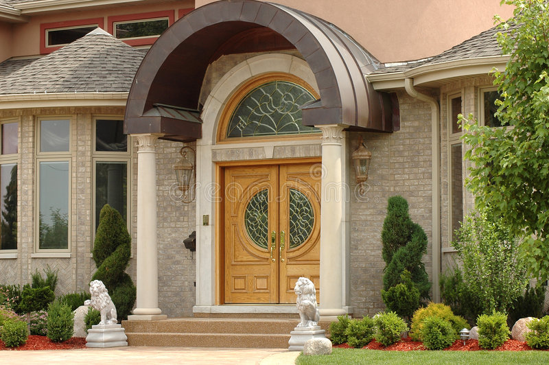 Elegante huisentryway stock foto