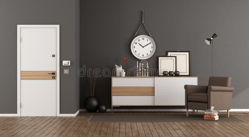 Elegante huisingang stock illustratie illustratie bestaande uit
