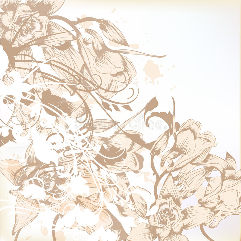 Elegante huwelijksachtergrond met bloemenpatroon voor ontwerp royalty-vrije illustratie