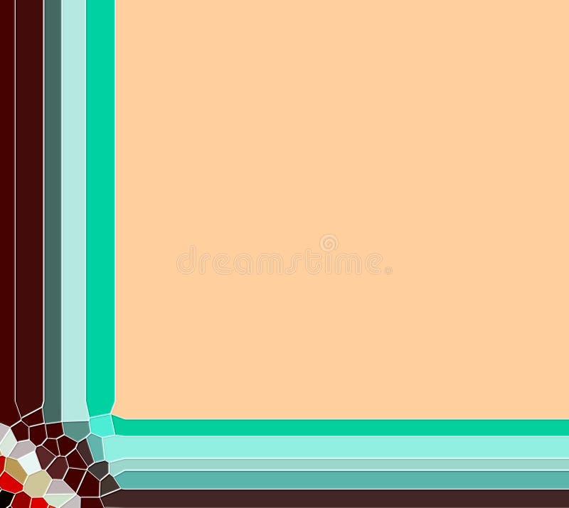 Elegante kaderbeeld en achtergrond in zachte tinten vector illustratie