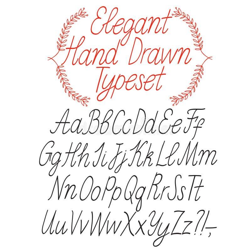 Elegante kalligrafie vectordoopvont stock illustratie